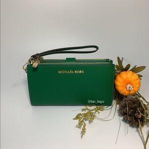 Michael Kors JST Large Double ZIP Wristlet Wallet